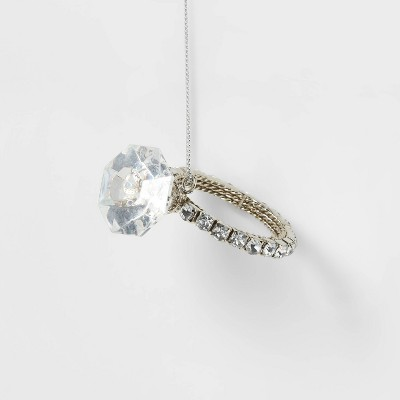 Engagement Ring Silver Christmas Tree Ornament - Wondershop™