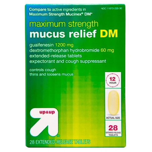 Maximum Strength Mucus Relief DM Caplets - 28ct - Up&Up™ - image 1 of 4