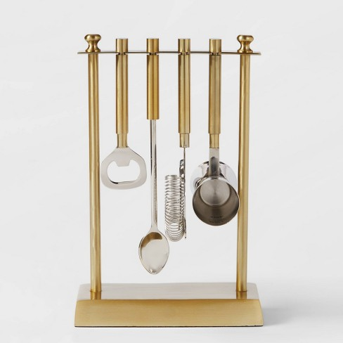 5pc Bar Tool Set With Stand Gold - Project 62™ - image 1 of 3