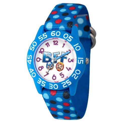 Boys' Marvel® Emoji Iron Man And Captain America Plastic Time Teacher Watch - Blue - image 1 of 2
