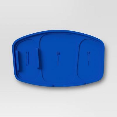 Silicone Grill Trivet Utensil Holder - Blue - Room Essentials™