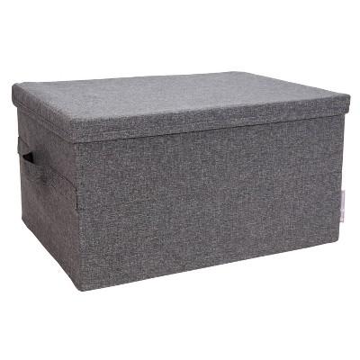 Bigso Box of Sweden Large Soft Storage Box Gray