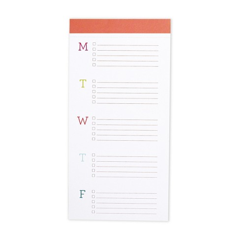 Big TA-DO Weekly Planner List Pad Orange - lake + loft - image 1 of 2