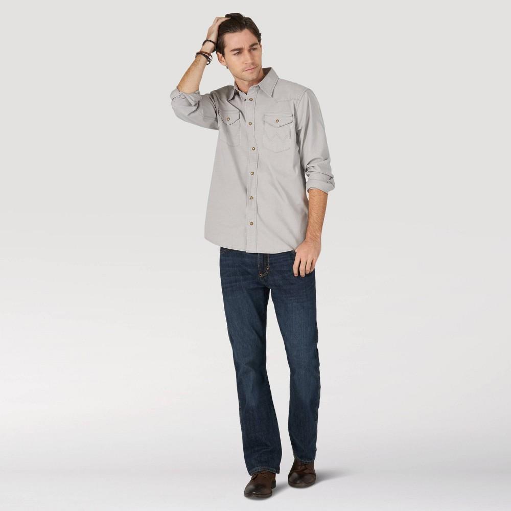 Wrangler Men 39 S Slim Fit Bootcut Jeans Dark Denim Wash 36x29