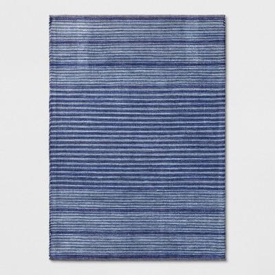 Stripe Woven Area Rug Blue - Threshold™