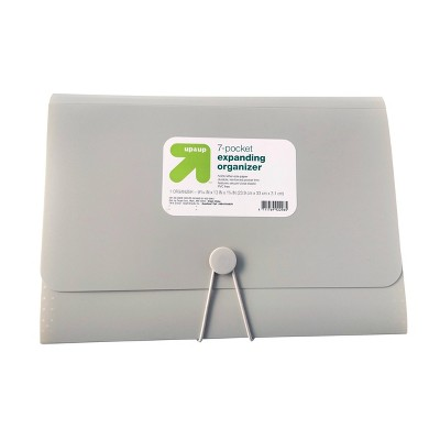 7 Pocket Expandable File Folder Letter Size Gray - up & up™