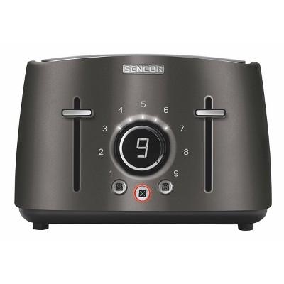 Sencor Metallic 4 Slice Toaster - Black
