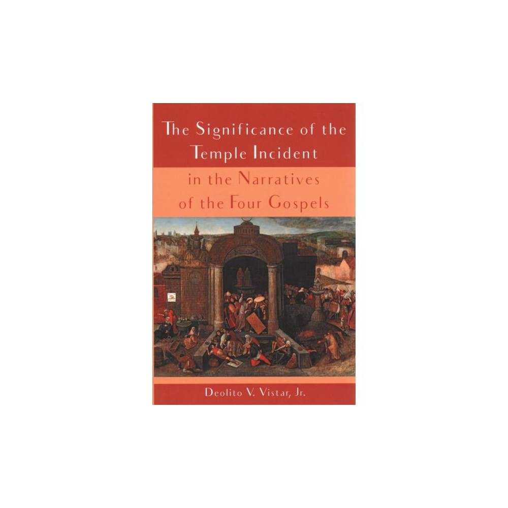 Significance of the Temple Incident in the Narratives of the Four Gospels - (Paperback)