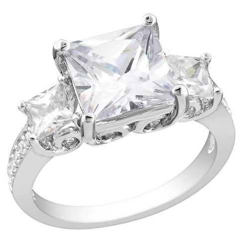 6.64 CT. T.W. Cubic Zirconia Engagement Ring in Sterling Silver - image 1 of 1