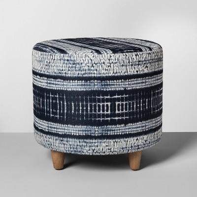 Shibori Upholstered Stool - Threshold™
