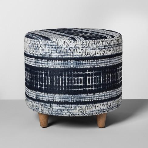 Shibori Upholstered Stool - Threshold™ - image 1 of 1