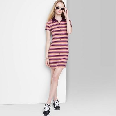Women's Short Sleeve Bodycon Polo Dress - Wild Fable™