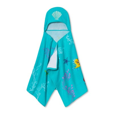Disney Little Mermaid Hooded Towel