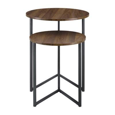 2pc Glam V Leg Nesting Side Tables - Saracina Home : Target