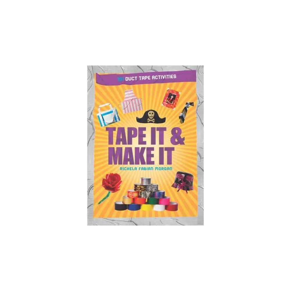 Tape It & Make It (Paperback) For many years a useful item in every household toolbox, duct tape has now taken on a second life as a medium for hobbyists of all ages. This fun-filled book offers dozens of creative ideas and easy-to-follow instructions for making everything from wallets and coin purses to novelty neckties and household decorations out of duct tape. Separate chapters give directions for projects that include-- Duct Tape Accessories-- wallets, sandals, watch strap and more Duct Tape Clothing--apron, necktie, mini skirt, tool belt, and more Duct Tape Flowers--roses, iris, water lilies, and more Duct Tape Animals--turtle, duck, lion's head, puppy, and more Megativities-- skyscraper, Rubik's Cube, and more Here's a book of fun for both grownups and kids, and a great way to introduce children to crafting. More than 500 color illustrations.