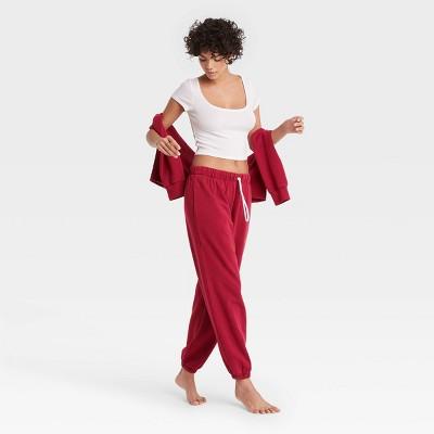 Women's Fleece Fold-Over Lounge Jogger Pants - Colsie™