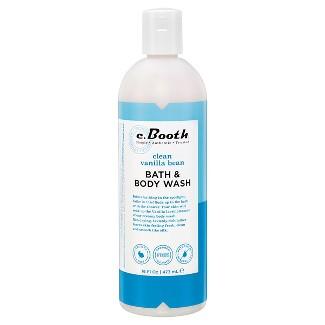 c.Booth Clean Vanilla Bean Bath & Body Wash - 16 Oz