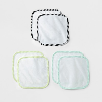 Baby Lightweight 6pk Washcloth Set Cloud Island™ - White