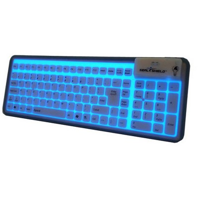 Seal Shield Seal Glow S106G2 Keyboard - Cable Connectivity - USB Interface - 106 Key - English, French - Black