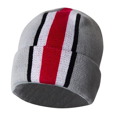 NCAA Ohio State Buckeyes Boys  Knit With Helmet Stripes Beanie - Gray    Target d76bb0df437