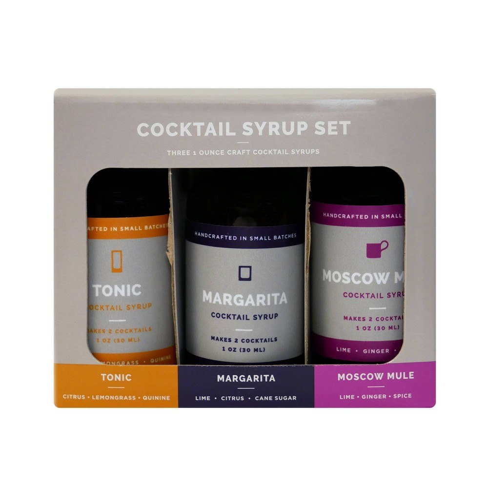 Image of 3pk 1oz Craft Cocktail Syrups - Assembly Brands LLC