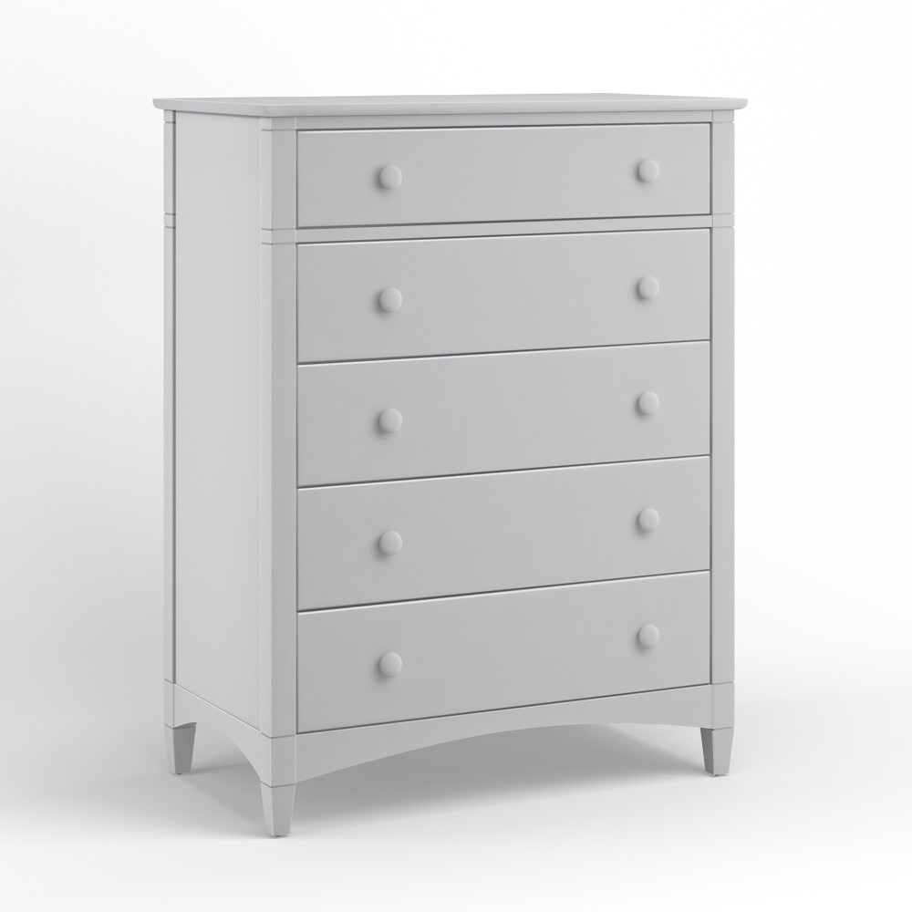 Essex 5 Drawer Chest Of Drawers Dove Gray - Bolton Furniture