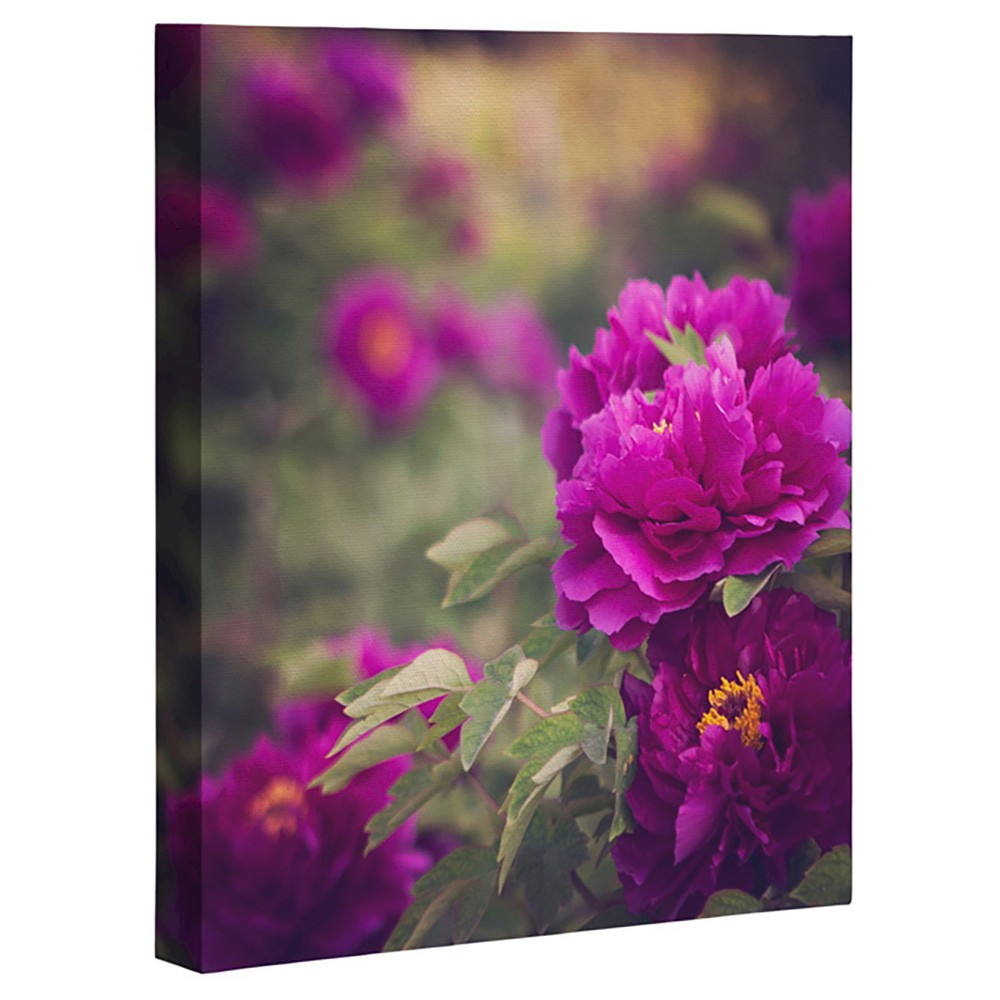 Catherine Mcdonald Peony Garden At Dayan Pagoda Art Canvas - Deny Designs, Multicolored Purple