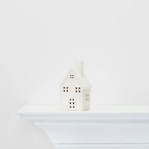 Small Ceramic House Decorative Figure White - Wondershop™ - image 1 of 3
