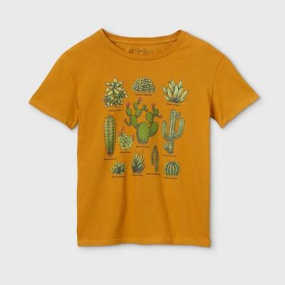Women's Cactus Short Sleeve Graphic T-Shirt (Juniors') - Gold