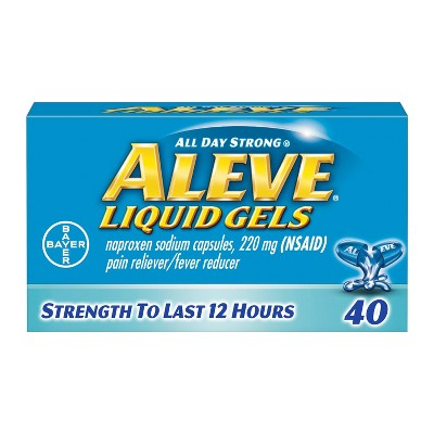 Aleve Pain Reliever & Fever Reducer Liquid Gels - Naproxen Sodium (NSAID)