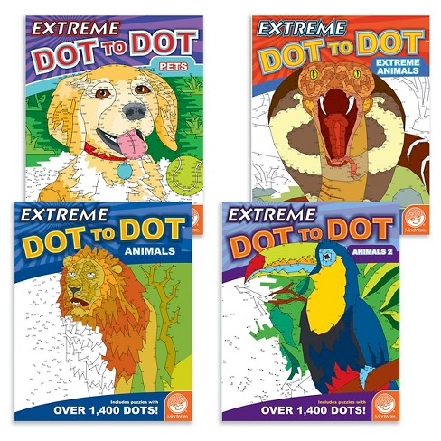 MindWare Extreme Dot to Dot Book Set of 4 - Animals - image 1 of 5
