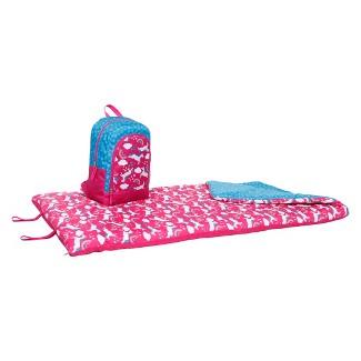 Crckt Unicorn backpack and 50 Degree Sleeping Bag Set - Pink/Blue