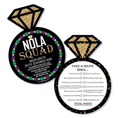 Big Dot of Happiness Nola Bride Squad - Selfie Scavenger Hunt - New Orleans Bachelorette Party Game - Set of 12