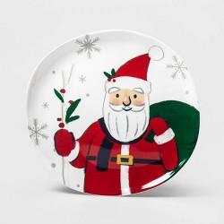 """11"""" Melamine Santa Dinner Plate - Wondershop™"""