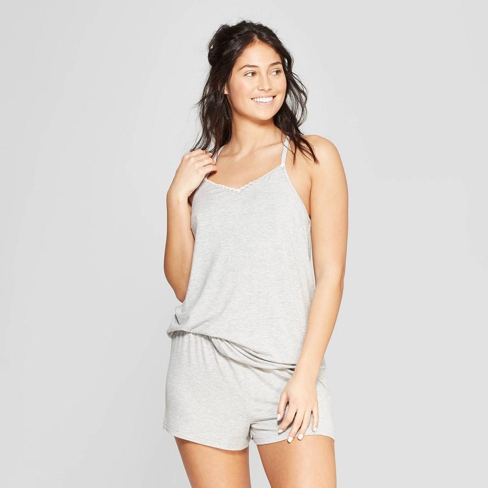 Women's Beautifully Soft Cami and Shorts Pajama Set - Stars Above Gray S