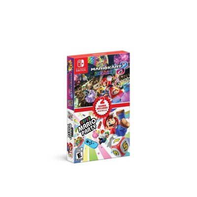 Mario Kart 8 Deluxe + Super Mario Party Double Pack - Nintendo Switch
