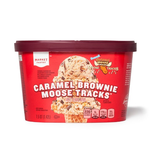 Caramel Brownie Moose Tracks Ice Cream - 48oz - Market Pantry™ - image 1 of 1