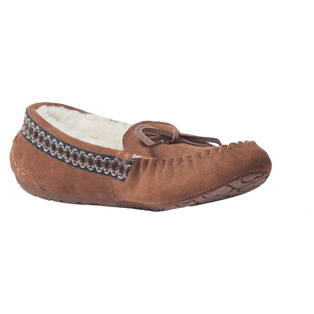 Women's Muk Luks Jane Moccasin Slippers - Brown 6