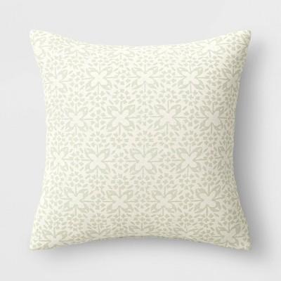 Oversized Woven Tile Square Throw Pillow - Threshold™
