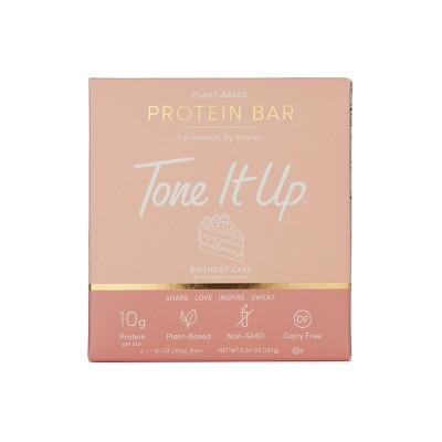 Tone It Up Plant-Based Protein Bar - Birthday Cake - 4ct