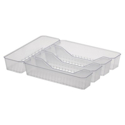 "10""x13"" Hexa 5-Divider Silverware Tray Clear - Spectrum Diversified"