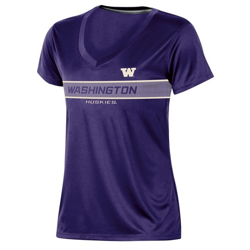 Washington Huskies Women's Short Sleeve V-Neck Performance T-Shirt - image 1 of 2