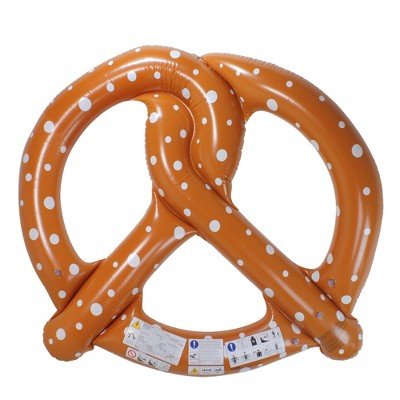 Pool Central 6' Inflatable Brown Giant Pretzel Pool Ring Float