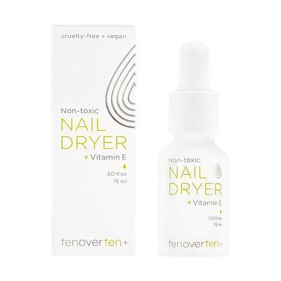 tenoverten Non-Toxic Nail Dryer Drops + Vitamin E - 0.50 fl oz