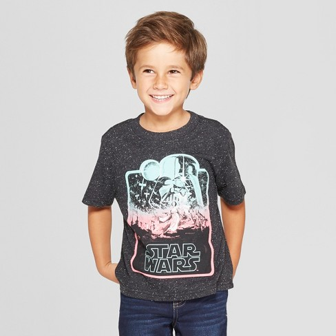 80ef6cb3 Toddler Boys' Star Wars Short Sleeve T-Shirt - Black/White 3T : Target