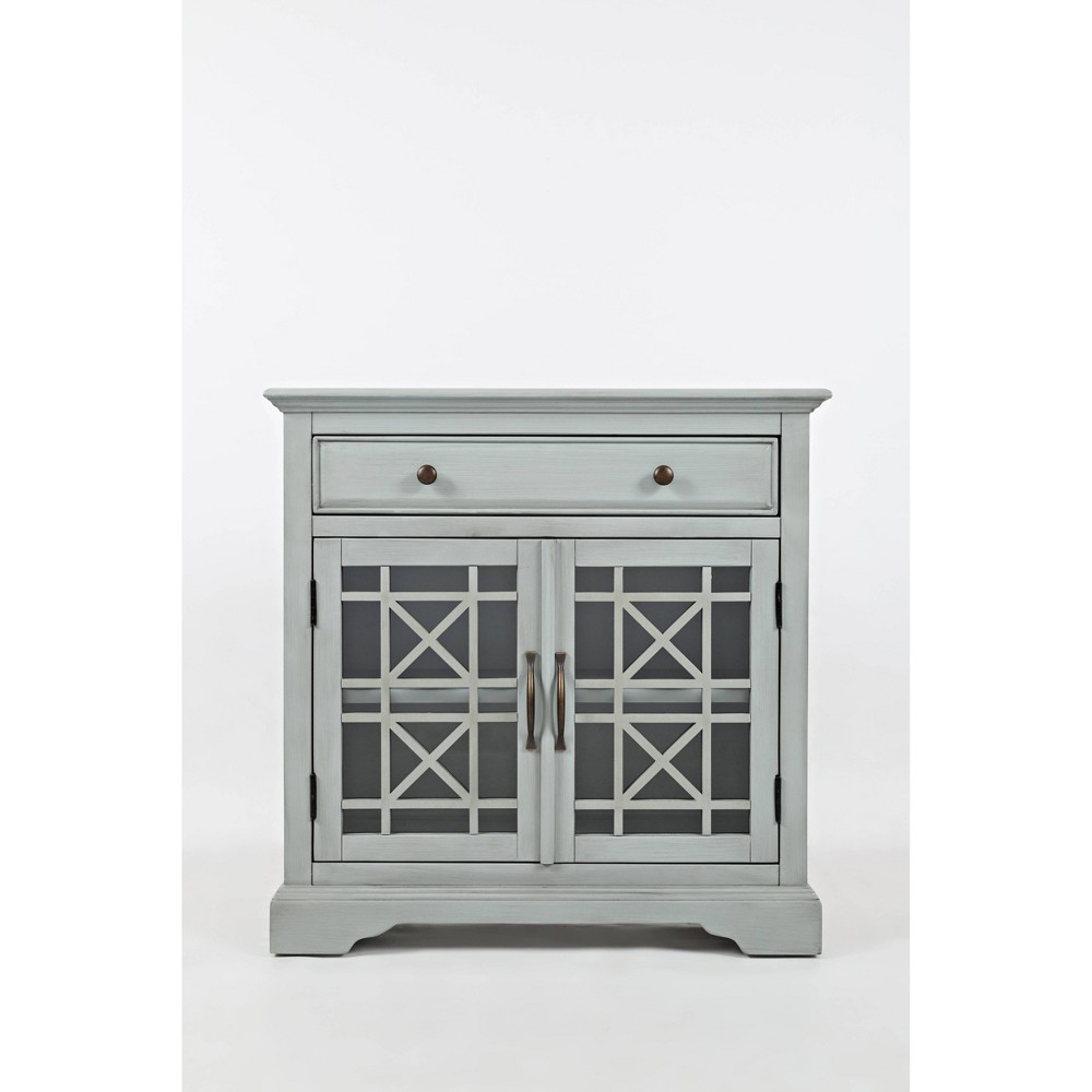 "Image of ""32"""" Craftsmen Series Spacious Wooden Accent Cabinet Light Gray - Benzara"""