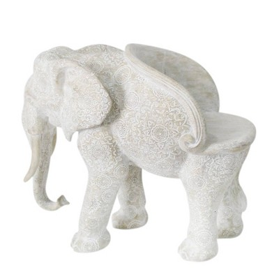 "36"" Resin Elephant Garden Patio Chair Gray - Sagebrook Home"