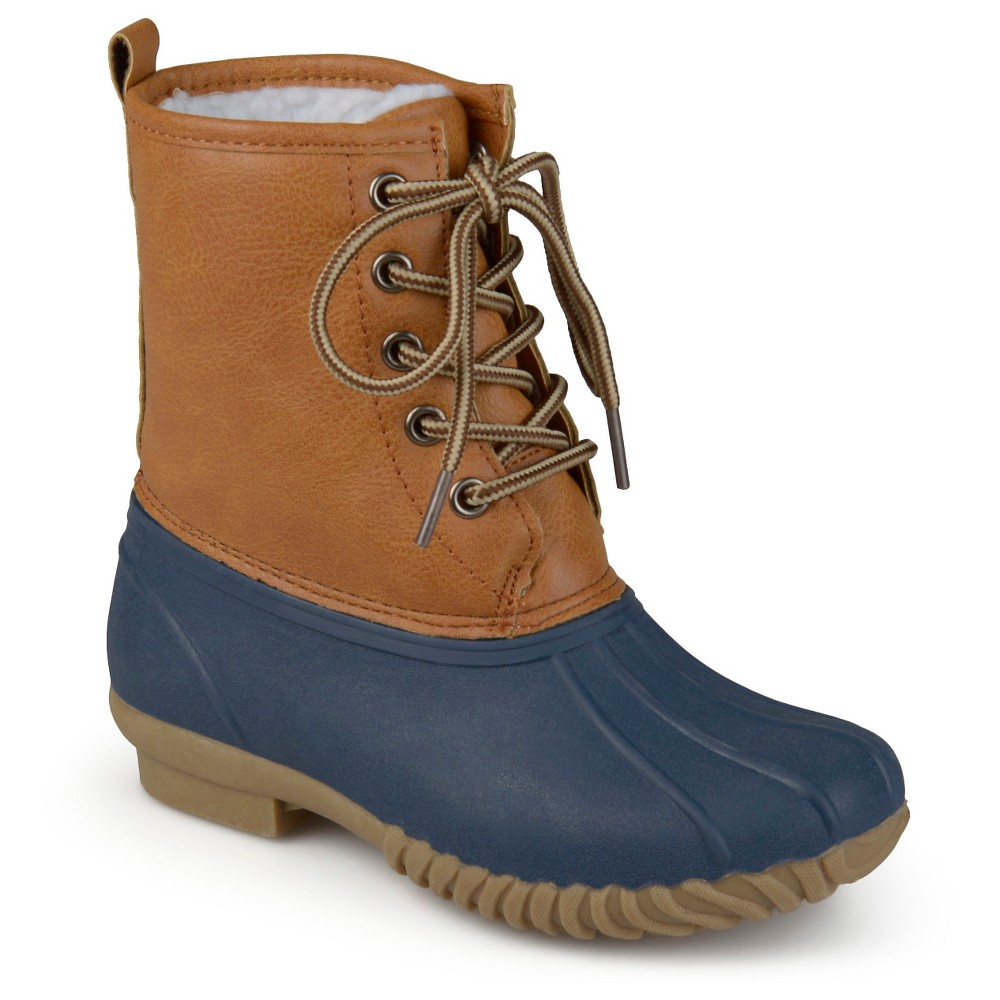 Boys' Journee Collection Dreena Lace-up Fashion Boots - Brown/Blue 11