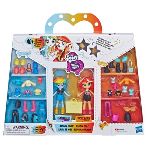 My Little Pony Equestria Girls Fashion Squad Rainbow Dash and Sunset Shimmer Mini Doll Set - image 1 of 4