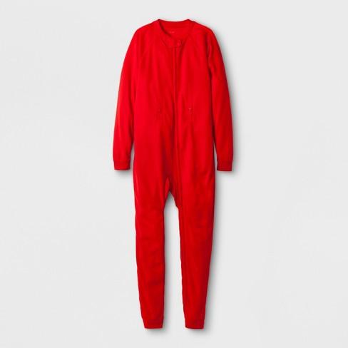 Kids' Adaptive Long Sleeve Union Suit - Cat & Jack™ Red - image 1 of 1